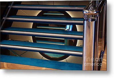 Under The Stairs Metal Print