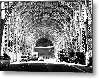 Under The West Side Highway Metal Print by Dave Beckerman