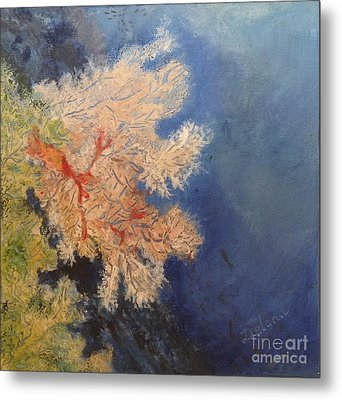 Metal Print featuring the painting Under Water Happiness  by Delona Seserman