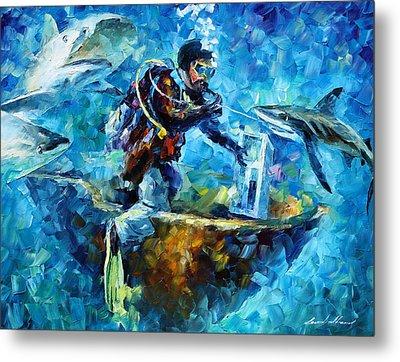 Under Water Metal Print by Leonid Afremov