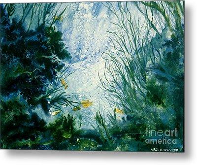 Under Water View Metal Print by Karol Wyckoff