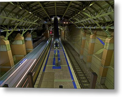 Metal Print featuring the photograph Underground Transit by John Babis