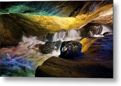 Underground Waterfall 2 Metal Print by Mark Papke