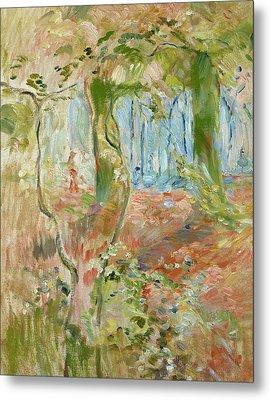 Undergrowth In Autumn Metal Print by Berthe Morisot