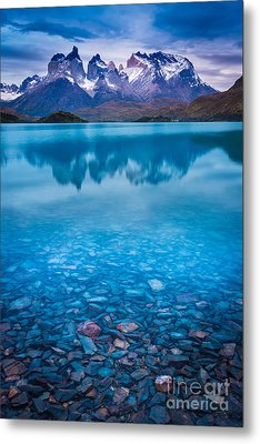 Underneath The Surface Metal Print by Inge Johnsson