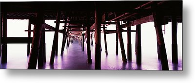 Underneath View Of San Clemente Pier Metal Print