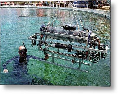 Underwater Autonomous Robot Metal Print by Us Air Force/ron Kuzlik