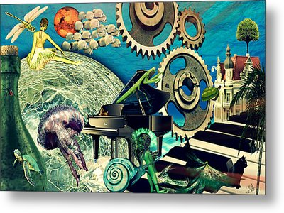 Metal Print featuring the digital art Underwater Dreams by Ally  White