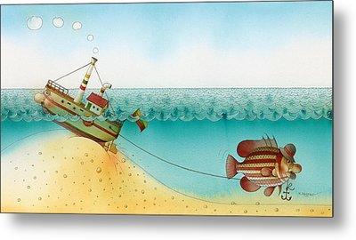 Underwater Story 02 Metal Print by Kestutis Kasparavicius