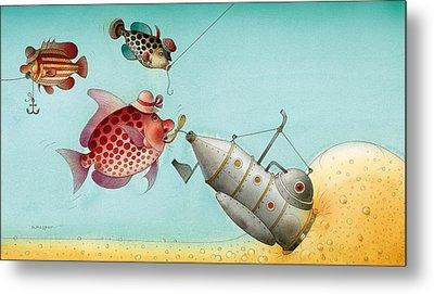 Underwater Story 04 Metal Print by Kestutis Kasparavicius