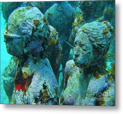 Underwater Tourists Metal Print