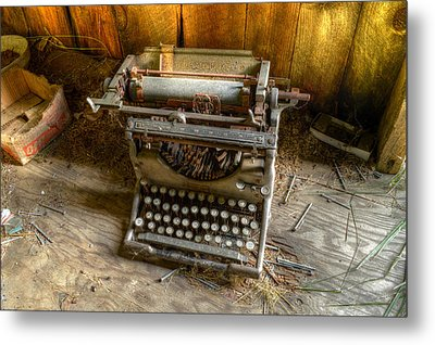 Underwood Typewriter No. 5 Metal Print