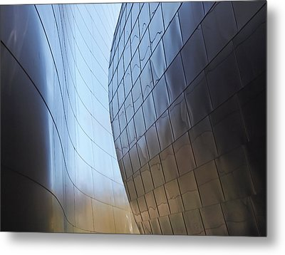 Undulating Steel Metal Print by Rona Black