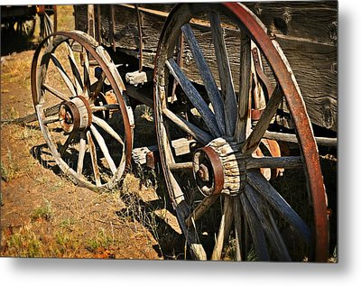 Unequal Wheels Metal Print by Marty Koch