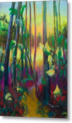 Unexpected Path - Through The Woods Metal Print by Talya Johnson