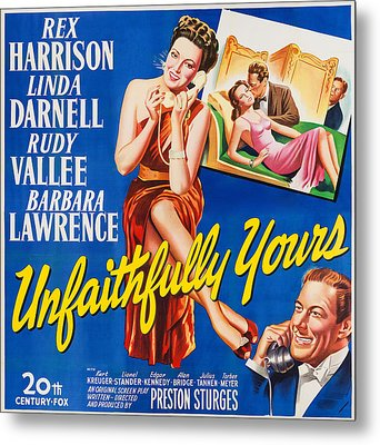 Unfaithfully Yours, Us Poster Metal Print