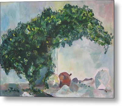 Metal Print featuring the painting Unfinished Apples by Diane Pape