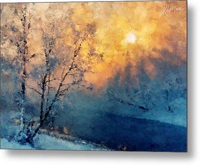 Unfrozen River Metal Print by Marina Likholat