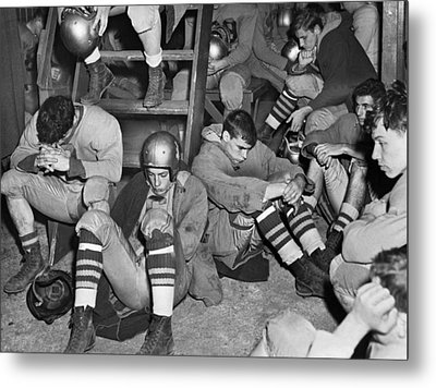 Unhappy Football Team Metal Print