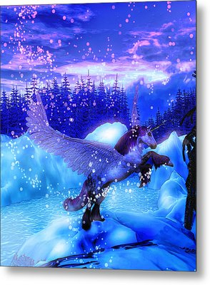 Metal Print featuring the painting Unicorn by David Mckinney