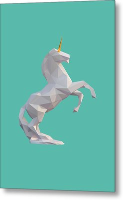 Unicorn Metal Print by Pollyanna Illustration
