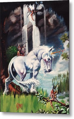 Unicorn Spring Metal Print by T Ezell