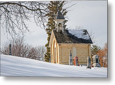 Union Cemetery Chapel Metal Print