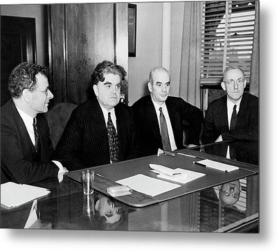 Union Leaders Metal Print by Underwood Archives