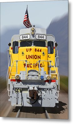 Union Pacific 844 On The Move Metal Print by Mike McGlothlen