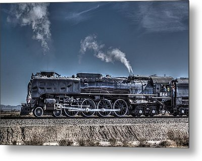 Metal Print featuring the digital art Union Pacific 844 by Photographic Art by Russel Ray Photos