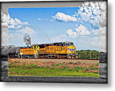Union Pacific Railroad 2 Metal Print by Walter Herrit