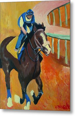 Metal Print featuring the painting Union Rags Kentucky Derby  by Darlene Berger