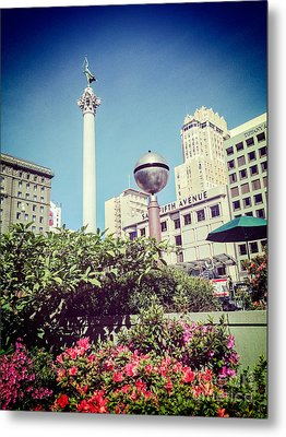 Union Square San Francisco Metal Print by Colin and Linda McKie