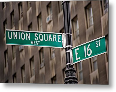 Union Square West I Metal Print by Susan Candelario