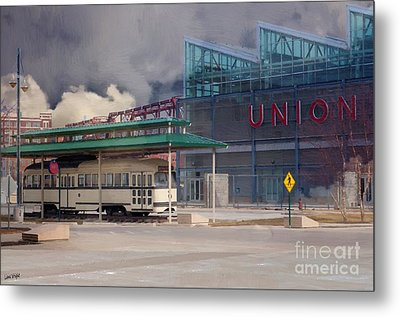 Union Station - Backside - Oil Painting Metal Print by Liane Wright