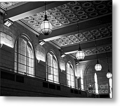 Union Station Balcony - New Haven Metal Print