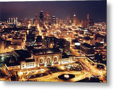 Union Station Night Metal Print by Crystal Nederman