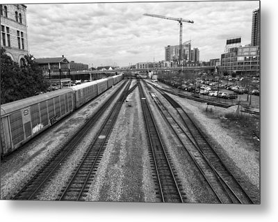 Union Station Railroad Tracks Metal Print