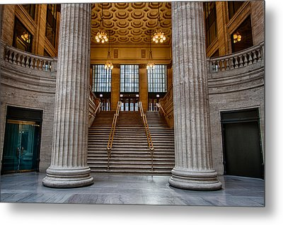 Union Station Stairs Metal Print by Mike Burgquist