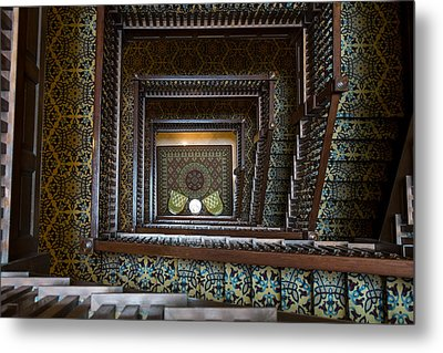Union Station Stairway Metal Print by Glenn DiPaola