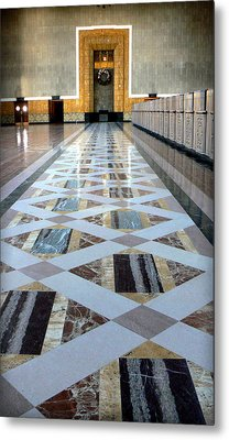 Union Station Ticket Counter Metal Print by Karyn Robinson