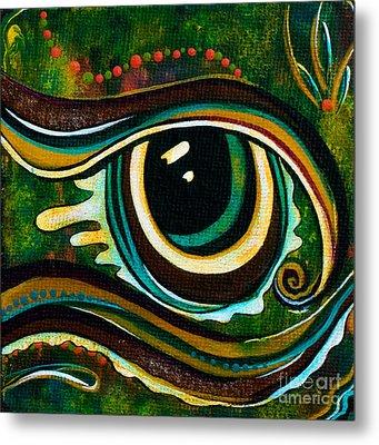 Metal Print featuring the painting Unique Spirit Eye by Deborha Kerr