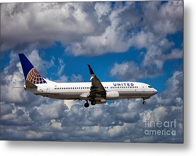 United Airlines Boeing 737 Ng Metal Print