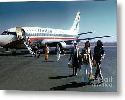United Airlines Ual Boeing 737-222 N9069u April 1974 Metal Print by Wernher Krutein