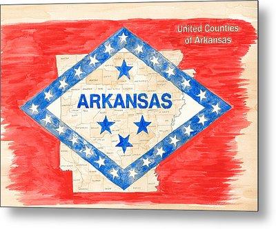 United Counties Of Arkansas Metal Print by Egil Viesturson