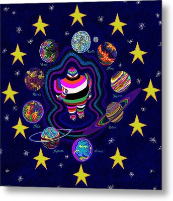 United Planets Of Eurotrazz Metal Print by Robert SORENSEN