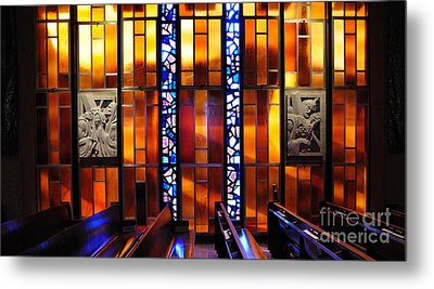 United States Air Force Academy Cadet Chapel Detail Metal Print by Vivian Christopher