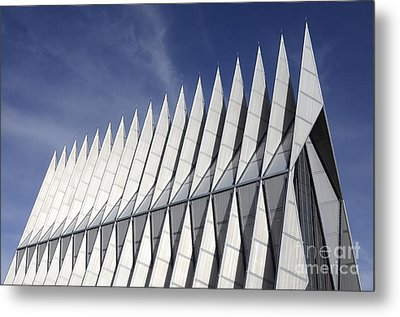 United States Airforce Academy Chapel Colorado Metal Print by Bob Christopher