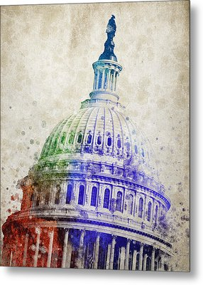 United States Capitol Dome Metal Print by Aged Pixel