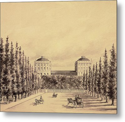 United States Capitol From Pennsylvania Avenue Metal Print by Benjamin Henry Latrobe